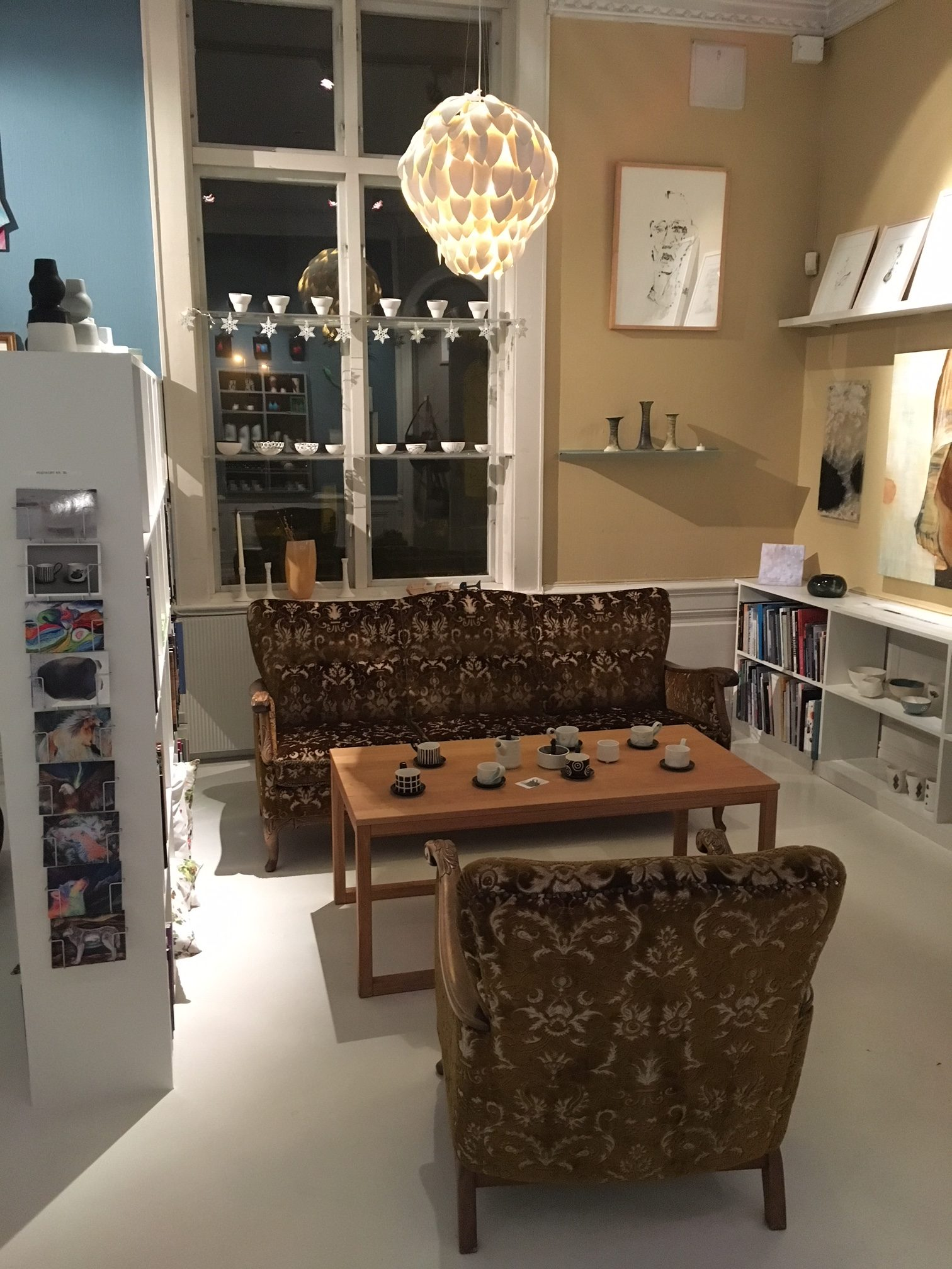 Winterwonderland i kunstbutikken