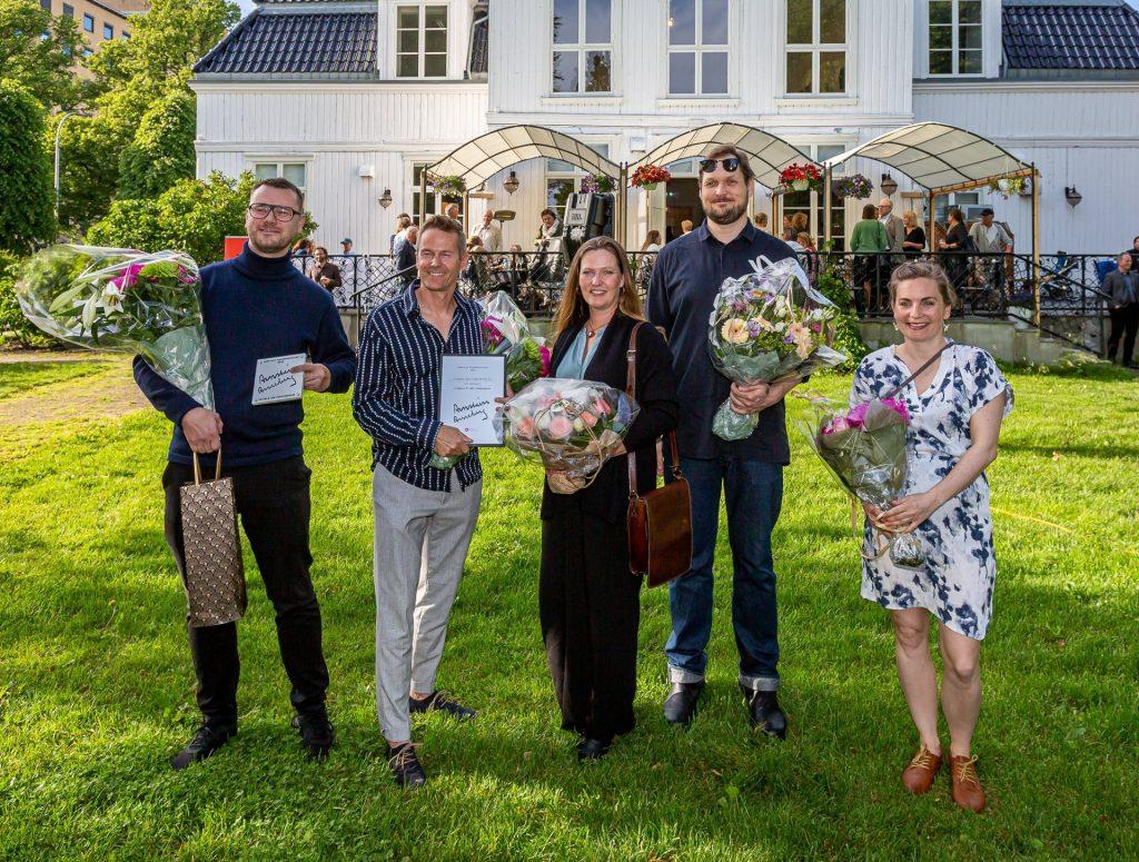 Fra venstre: Kennet Hald og Jarl Ture Vormdal – Griff Arkitektur, Laila Kongevold, Jens Stegger Ledaal, Linda Spaun Hauglie. Foto: Harry Johansson
