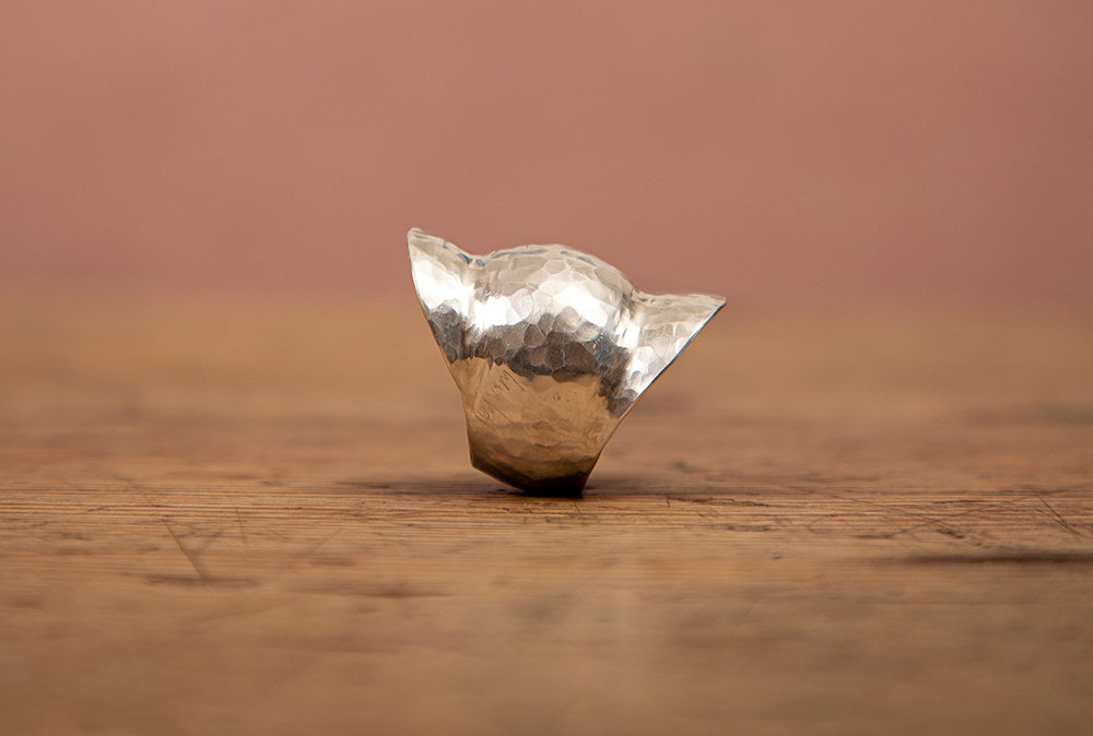 Ring i sølv. Modell: Bold. (Foto: Mats Linder)