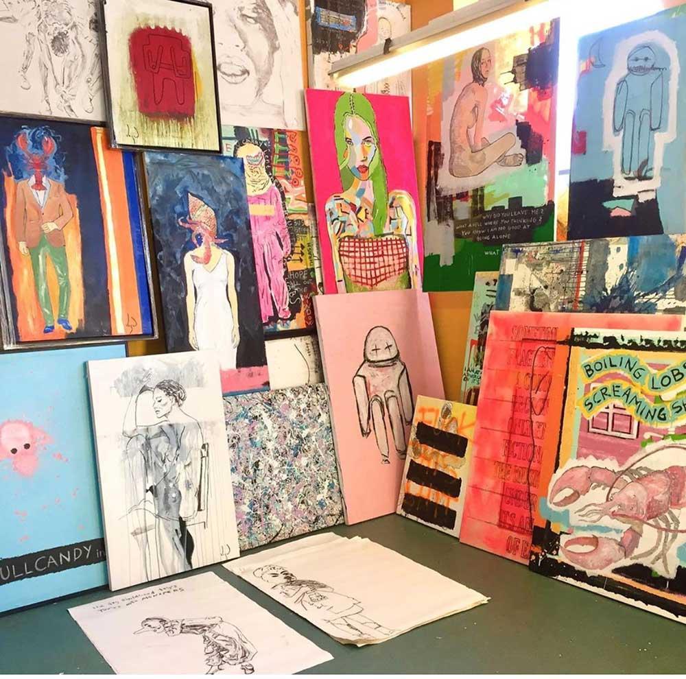 Vegard Blomberg sitt atelier.