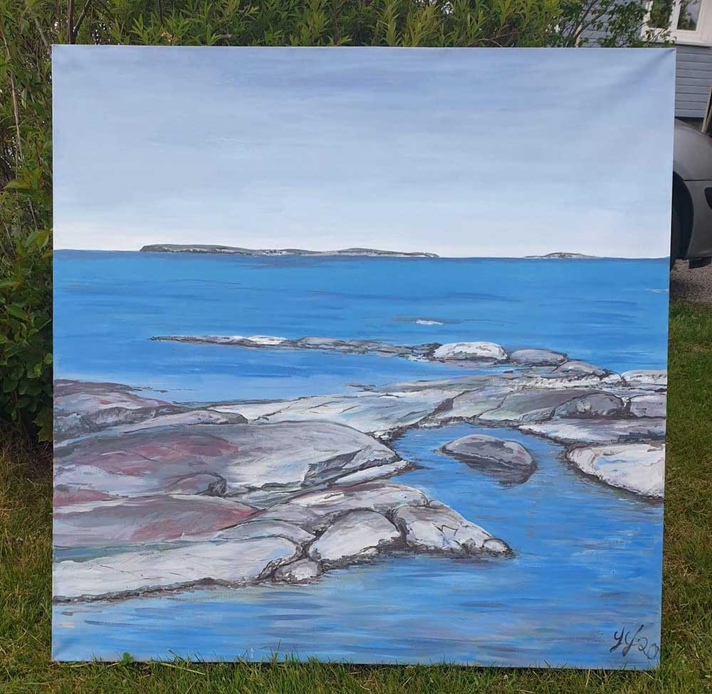 Maleri av Jorid Johannessen, DM12 i Fredrikstad.