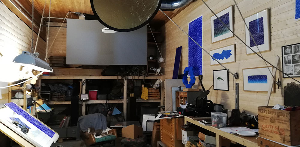 Jens Stegger Ledaals atelier på Hylla