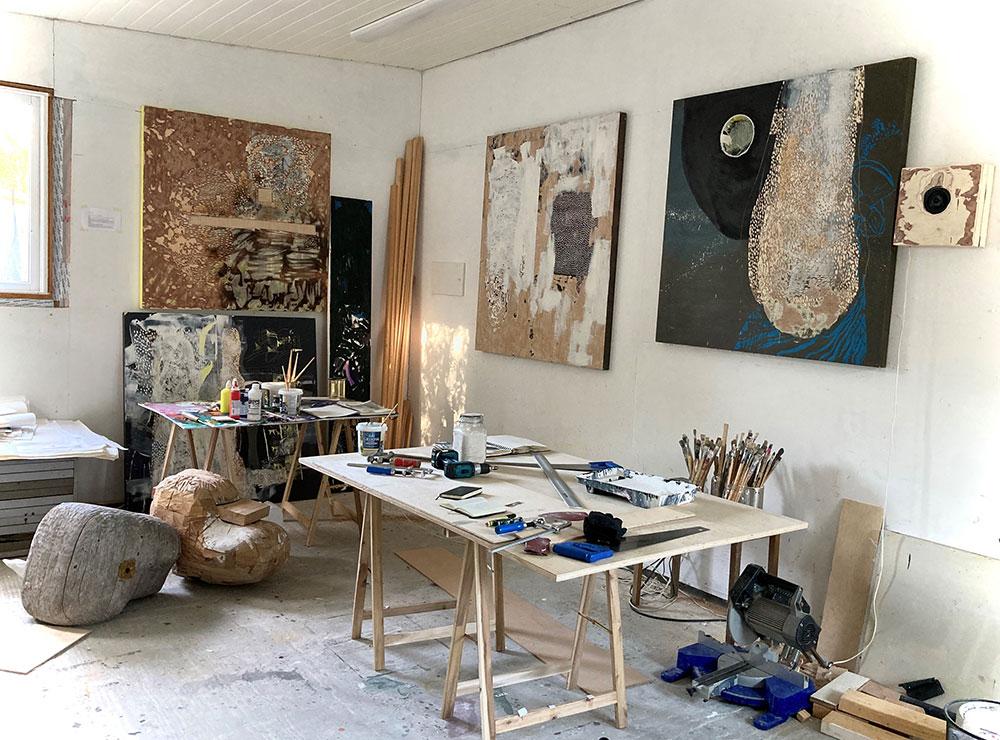 Tommi Sarkapalo sitt atelier.